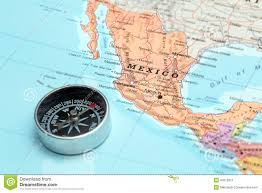 Map Of Mazatlan Mexico by Travel Destination Mexico Map With Compass Stock Photo Image