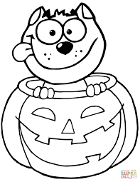 pumpkin and cat frame coloring page dresslikeaboss co
