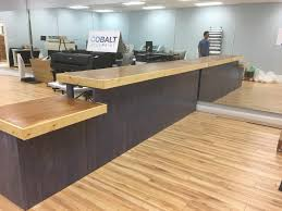 Rustic Reception Desk Purple Rain 13 U0027 Rustic Finished Real Wood Sales Counter Or