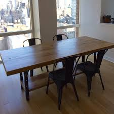 machine age table reclaimed wood furniture salvaged urban