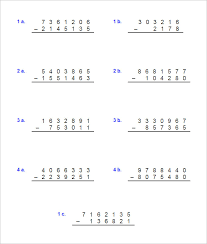 17 sample addition u0026 subtraction worksheets free pdf documents