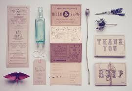 Wedding Stationery Helen Steve U0027s Country Inspired Kraft Paper Wedding Invitations