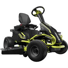 ryobi 38 in battery electric riding lawn mower ry48110 the home
