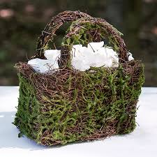 wedding baskets 4 woodland wedding baskets faux moss
