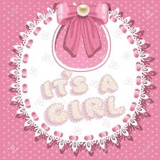 girl baby shower it s a girl baby shower on pink bib royalty free cliparts vectors