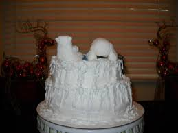 polar bear christmas cake bears are made gumpaste icicles and