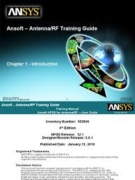 hfss for antenna rf training guide v12 finite element method