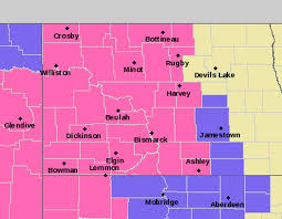 beulah dakota map early winter dumps heavy snow in central and western