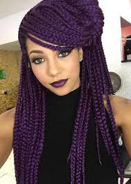 grey and purple combined together style box breads 35 awesome box braids hairstyles you simply must try fashionisers