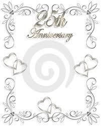 25th wedding anniversary invitations 25th wedding anniversary invitation wording the wedding