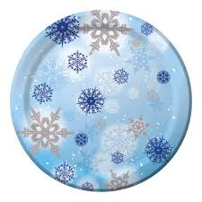 winter snowflakes baby shower paper plates baby shower mania
