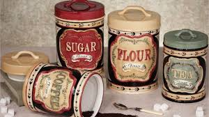 primitive kitchen canisters various primitive canister set ebay in country kitchen sets find