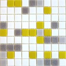 gray white and yellow blend brio mosaic glass tile city sunshine