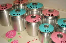 pink kitchen canisters farm pink vintage kromex lots of pretty