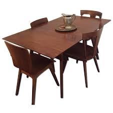 west elm mid century expandable dining table w 4 aptdeco