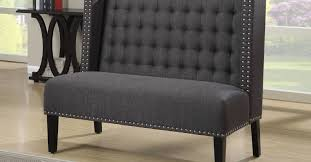 Dining Room Benches Upholstered Bench Upholstered Bench With Back Flourish Velvet Dining Bench