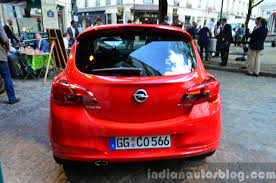 opel paris 2015 opel corsa 3 door rear at the 2014 paris motor show indian