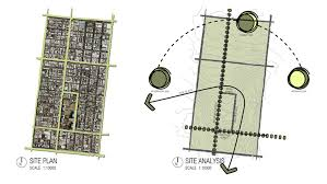 architectural site plan site plan left and site analysis right site analysis