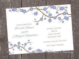 wedding invitations san antonio blue cherry blossom invitation