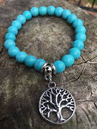 turquoise bead bracelet images Tree of life turquoise bead bracelet hope support jpg