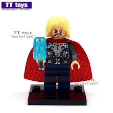 wholesale 50pcs 028 thor crystal hammer dolls avenger building block