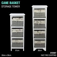 Wicker Storage Chest Of Drawers Cane Wicker Basket Shelf Storage Tower Chest Of Drawers Vintage Bedroo