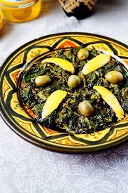 cuisine marocaine bakoula salade d épinards marocaine aux délices du palais