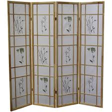 Panel Shoji Screen Room Divider - natural 4 panel shoji screen