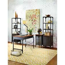 home decorators collection ambrose natural storage open bookcase