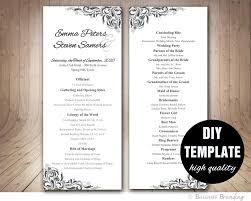 purple wedding programs wedding program templatediy silver weddingelegant