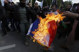 Flag On Fire Radical Islamists Try To Storm French Centre In Gaza