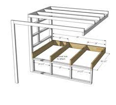 Ana White Build A Side Street Bunk Beds Free And Easy Diy by Ana White Build A Tiny House Loft With Bedroom Guest Bed