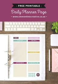 free printable 2016 day planner free printable daily planner page clementine creative printable