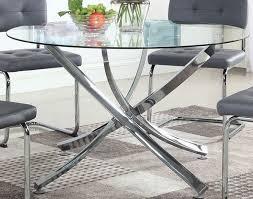 chrome round dining table coaster cudahy polished chrome round dining table cudahy