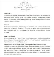 Hr Administrator Resume Sample by Microsoft Word Resume Template U2013 99 Free Samples Examples