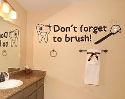 Wall Transfers For Bathroom Tooth Wall Decals Etsy
