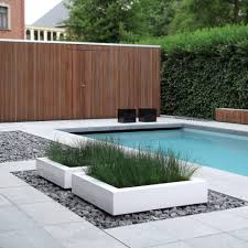 garden boxes ideas planter box ideas landscaping pool modern with potted plant wood