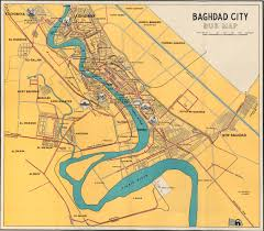map of bagdad baghdad 1961 map mappery