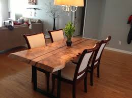 natural wood dining room tables dining room table new perfect live edge dining table design