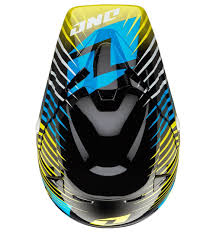 one industries motocross helmets amazon com one industries atom fragment helmet yellow medium