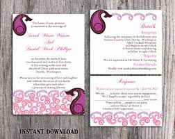Wedding Invitations India Bollywood Wedding Invitation Template Download Printable
