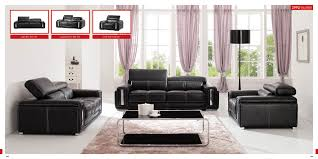 Contemporary Sofas For Sale Esf 2992 Black Leather Modern Sofa Set