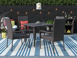 5 Piece Patio Dining Sets - brayden studio gunning outdoor 5 piece dining set u0026 reviews wayfair