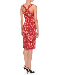 dolce u0026 gabbana sweetheart neck polka dot dress red white
