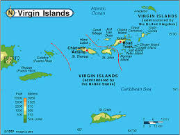 map usvi map of islands us and major tourist