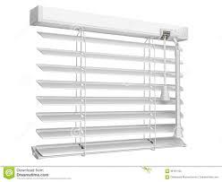 open white window blinds stock illustration image 58761192