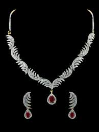 diamond set american diamond necklace set m165 de41 cilory