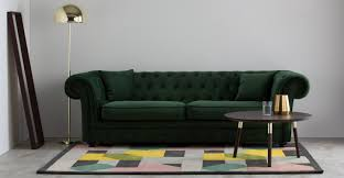 What Is A Chesterfield Sofa by Branagh 3 Seater Chesterfield Sofa Pine Green Velvet Made Com