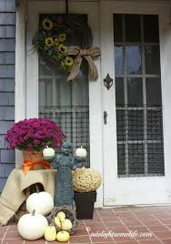 Front Porch Fall Decorating Ideas - autumn front porch