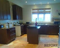 Painted Black Kitchen Cabinets Before And After A Builder Basic Kitchen Goes
